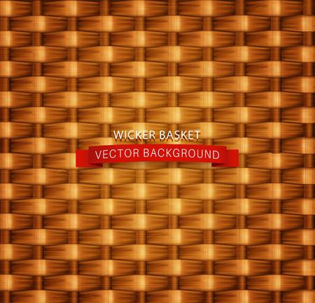 wicker: texture. Wicker basket. Illustration