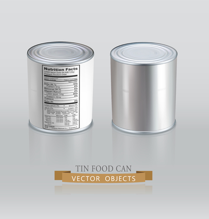 tin: tin cans. Realistic. (Element for design)
