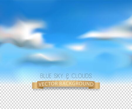 photorealism: template with a realistic sky and clouds on a transparent background. Element for design and collages