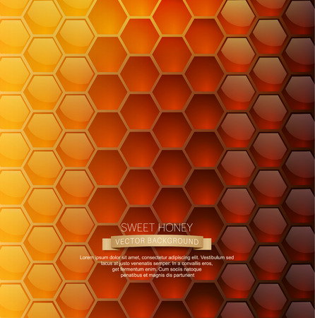 praiseworthy: vector background with honeycombs