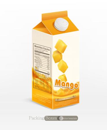 mango juice: Vector pack of mango juice, isolated on white background Illustration