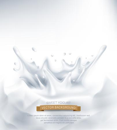 vector. Dairy splash on a grey background