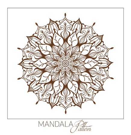 mandala: Monochrome Mandala. Vector Decorative round ornament. Element for coloring book. Element for a poster of Yoga and meditation.