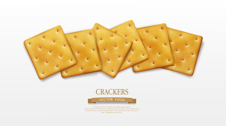 Vector object. for design element. Crackers isolated on white background