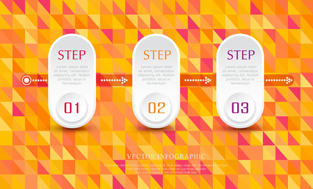 numbers abstract: Vector abstract element for business. Strategy in stages. Steps of development, teamwork. Business concept illustrated in three stages, parts, steps. Graph, diagram, presentation.