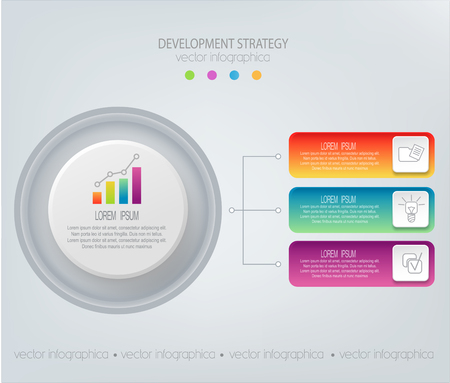 technology: Vector abstract element for business.Strategy in stages.Steps of development, teamwork.Business concept . Graph, diagram,  presentation infographic template Illustration