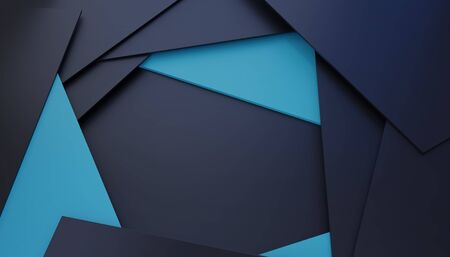 Abstract, luxurious polygonal black and blue background. Template for design, banner.