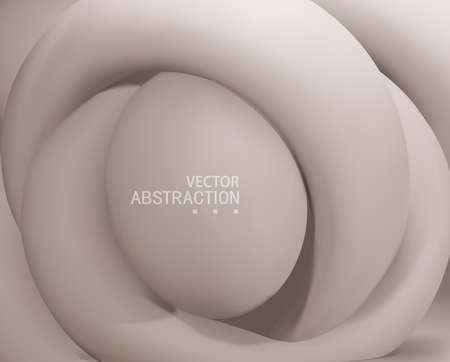Vector 3d illustration. Abstract background with Volumetric Abstract Shapes in pastel colors. Modern Concept.Template for Cover or Poster or Banner