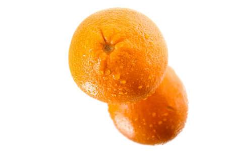 orange peel clove: orange  with reflection on Mirror Surface