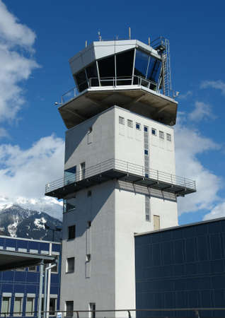 control tower: An aerodrome flying control tower