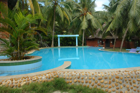 Open air swimming pool in hotel 2