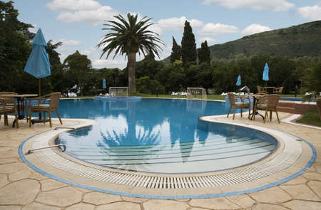 Open air swimming pool in hotel 3