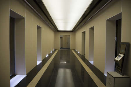 lak�hely: Passenger lifts hall of residency building