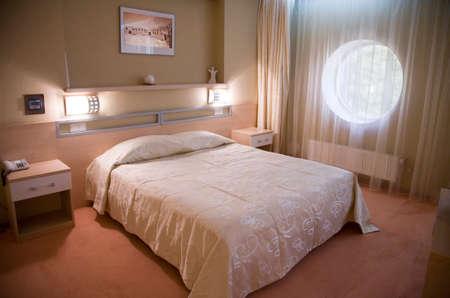 Interior of modern bedroom in sunlight 2   photo