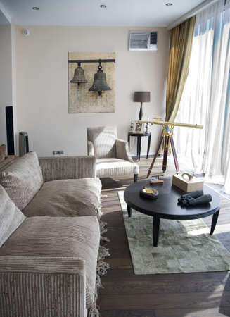 urban apartment: Interior of modern lounge room 1