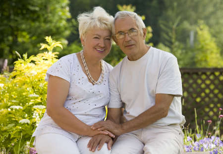 Portrait of mature loving couple   Stock Photo
