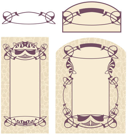 Vector drawing of Art Nouveau style. Ready for the text of your choice.