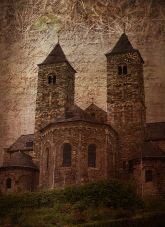 limburg: Old church in Limburg, province of Netherlands. (Im author of all components of this collage)
