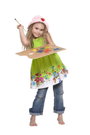 Girl painter Stock Photo - 6701375