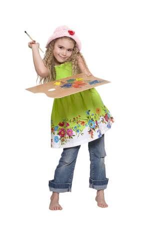 Girl painter Stock Photo - 6701375