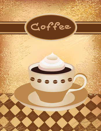 illustration of a coffee cup with cream