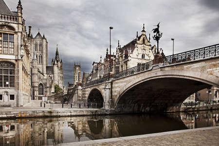 belgie: De historische stads kern van Gent, België