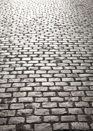 diminishing: Cobblestone background with diminishing perspective