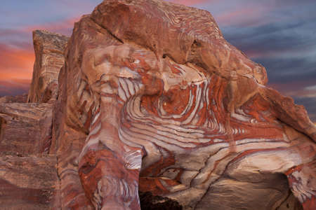 Marvelous beauty of rocks texture in Petra, Jordan photo