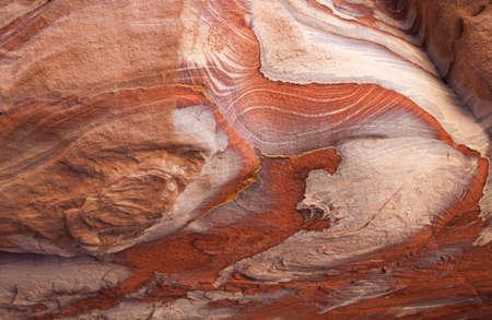 Maravillosa belleza de textura de las rocas en Petra, Jordania Foto de archivo - 8647817