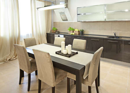 Interior shot of a modern dining room Stock Photo - 8876627