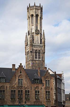 belfort: Belfort, a medieval belfry tower in Bruges, Belgium