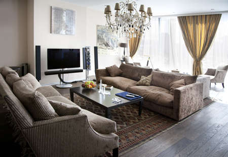 Inter shot of a modern lounge room 