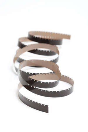 16mm: Detail of a reel of 16mm Film Stock Photo