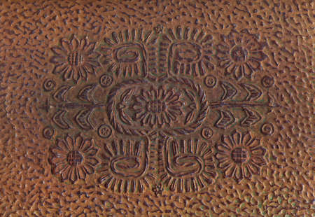 Embossed brown book cover  (scan) photo