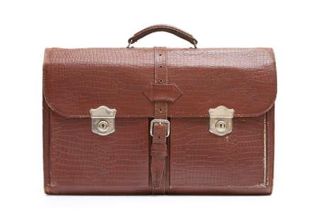 Vintage men's leather bag on white background Stock Photo - 11941229