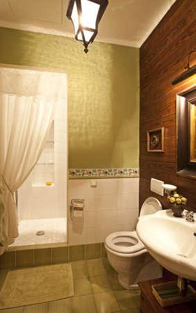 interior shot: Interior shot of a modern bathroom