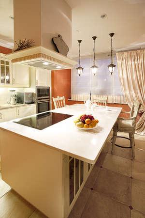 Interieur shot van een moderne eetkamer