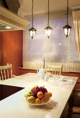 Interior shot of a modern dining room photo