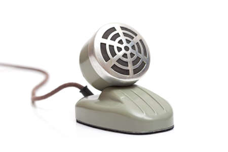 desktop vintage microphone isolated on a white background Stock Photo - 13283028
