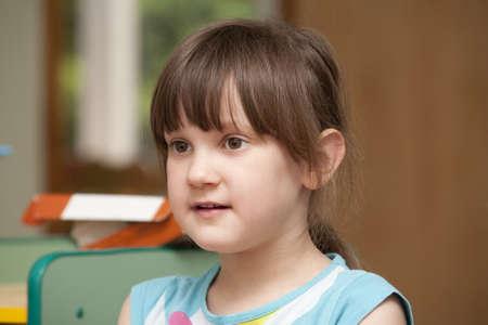 Portrait of little girl in the kindergarten Stock Photo - 13567279