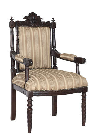 Antique armchair isolated on a white background Stock Photo - 17387137
