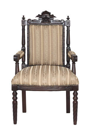 Antique armchair isolated on a white background Stock Photo - 17387138