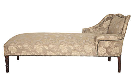 Antique couch, from Victorian era, isolated on white background Stock Photo - 17387135