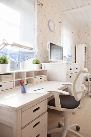 Modern interior of children's room in sunlight  photo