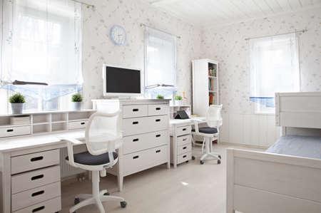 Interior shot of kids room in sunlight