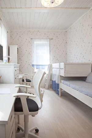 Interior shot of kids room in sunlight  photo