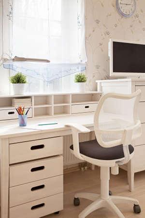 Interior shot of childrens room in sunlight closeup  photo