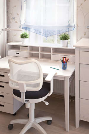 Vertical shot of a childrens room in sunlight   photo