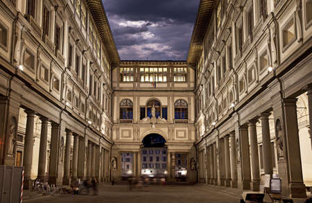 Uffizi Gallery, primary art museum of Florence  Tuscany, Italy 스톡 콘텐츠