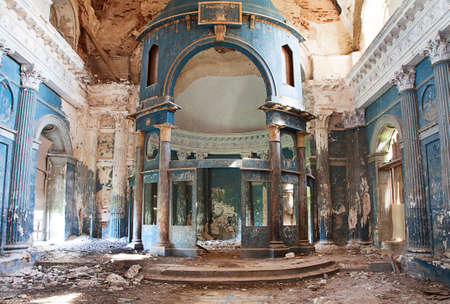 blasted: Interior shot of old Abandoned Orthodox Church